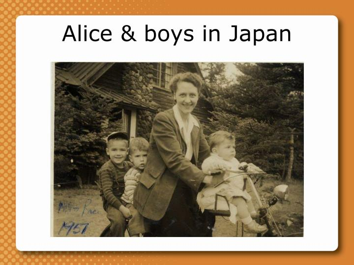 Alice & boys in Japan
