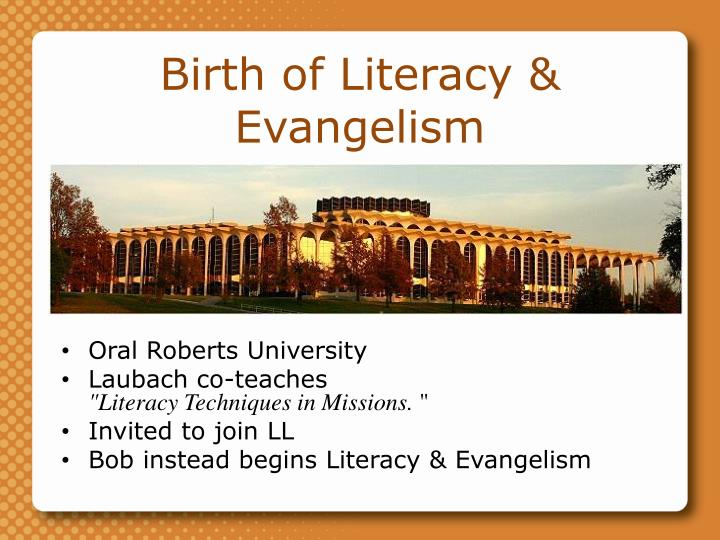 Birth of Literacy & Evangelism
