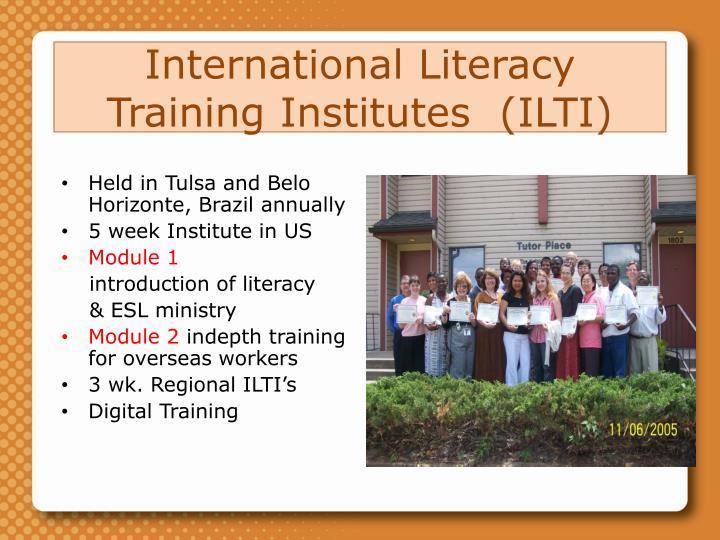 International Literacy Training Institutes  (ILTI)
