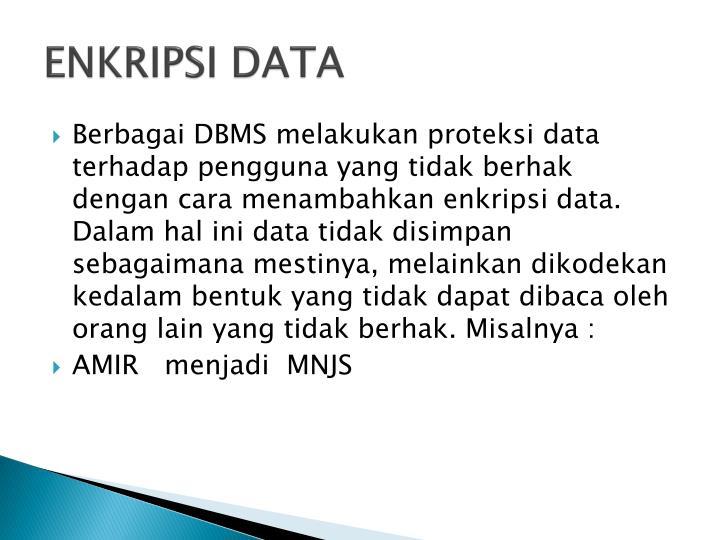ENKRIPSI DATA