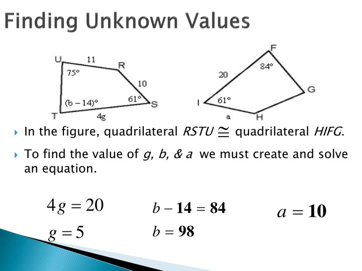 Finding Unknown Values