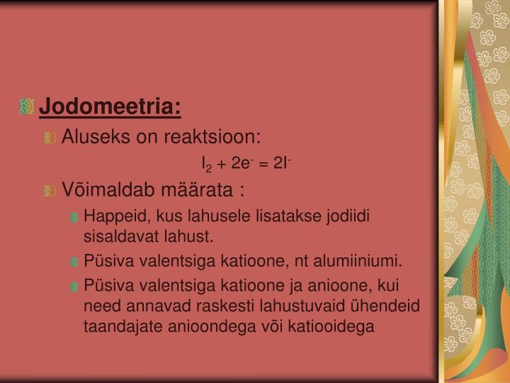 Jodomeetria: