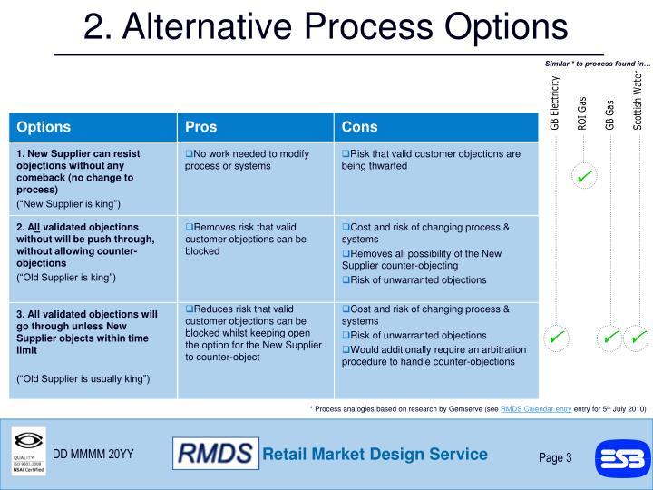 2. Alternative Process Options