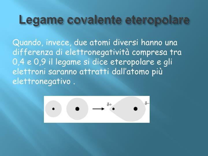 Legame covalente eteropolare