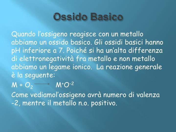 Ossido Basico