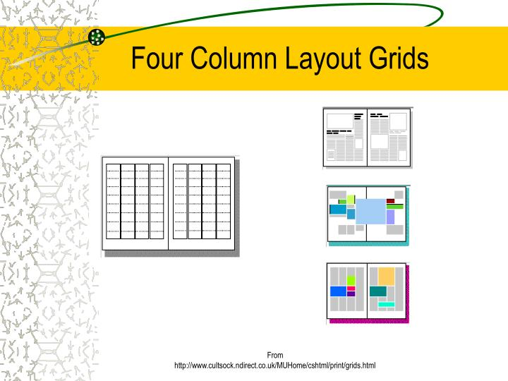 Four Column Layout Grids
