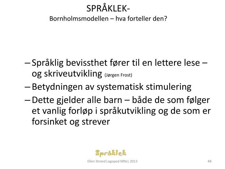 SPRÅKLEK-