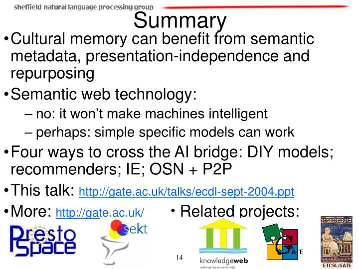 Cultural memory can benefit from semantic metadata, presentation-independence and repurposing