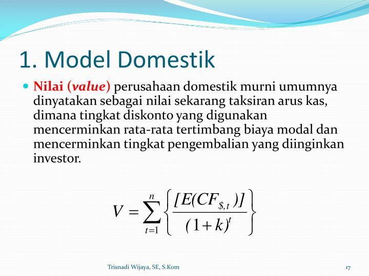 1. Model Domestik