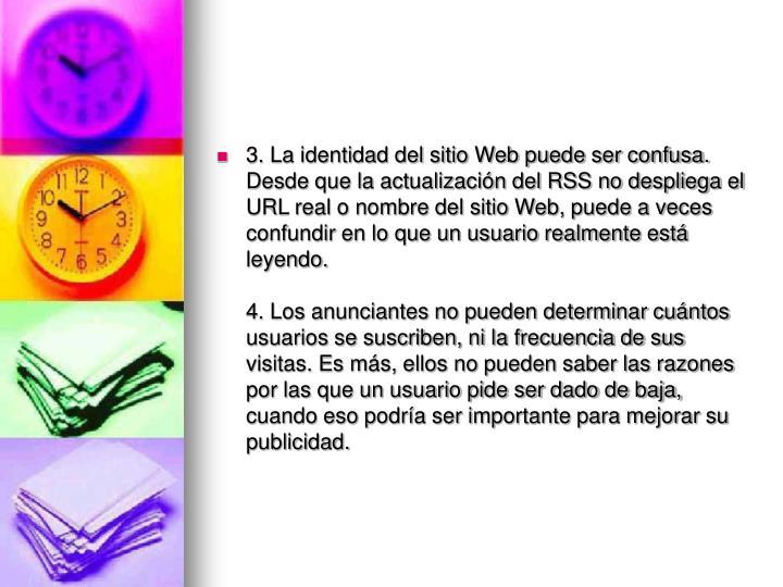 3. La identidad del sitio Web puede ser confusa.