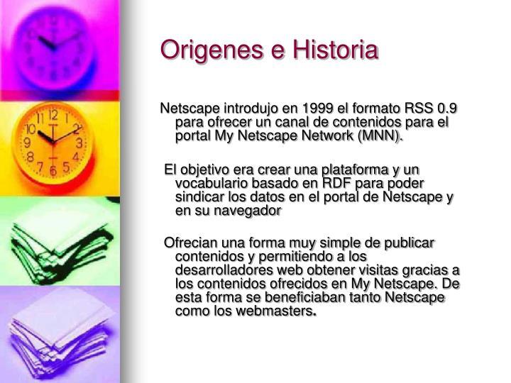 Origenes e Historia