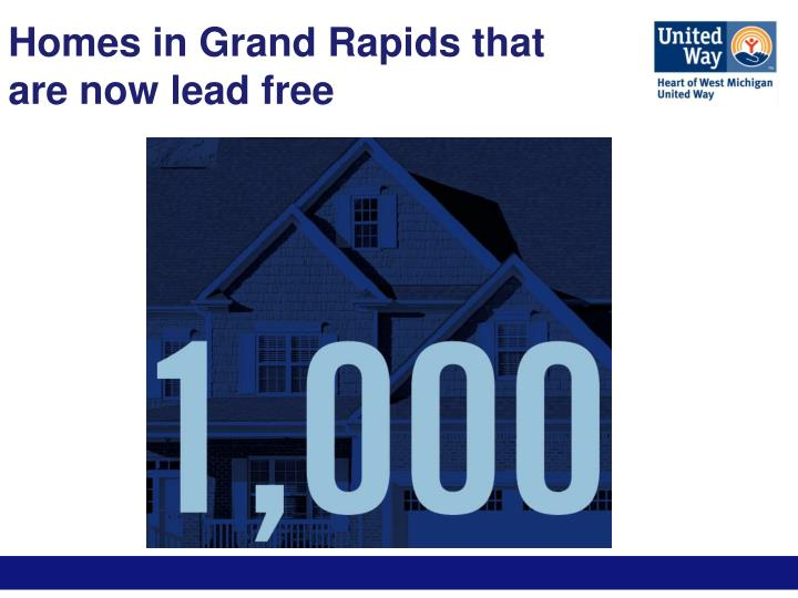 Homes in Grand Rapids that are now lead free