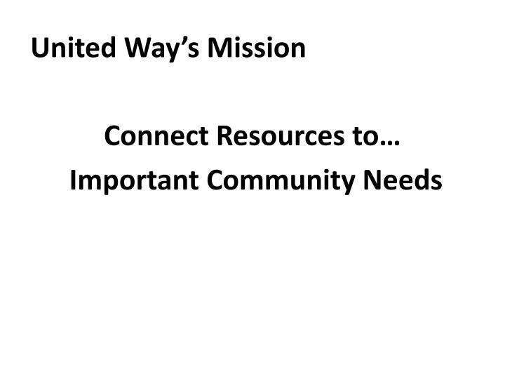 United Way's Mission