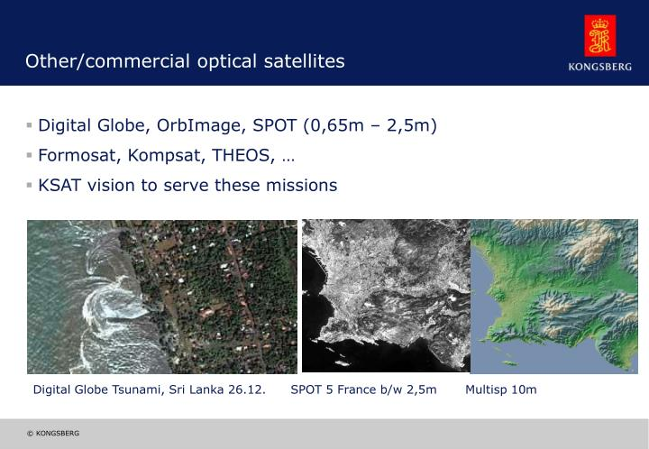 Other/commercial optical satellites