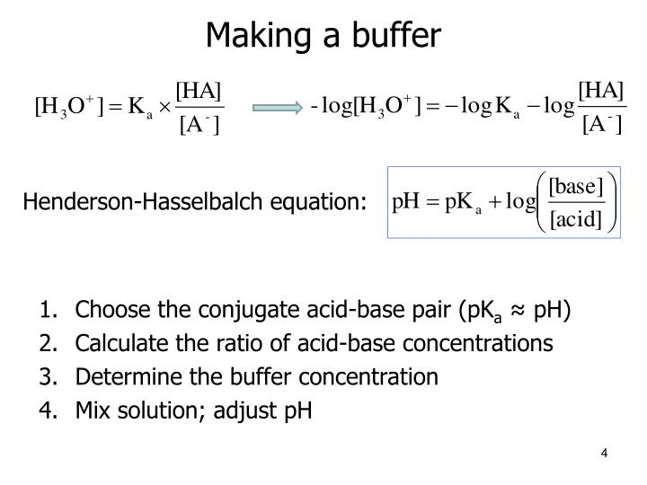 Making a buffer