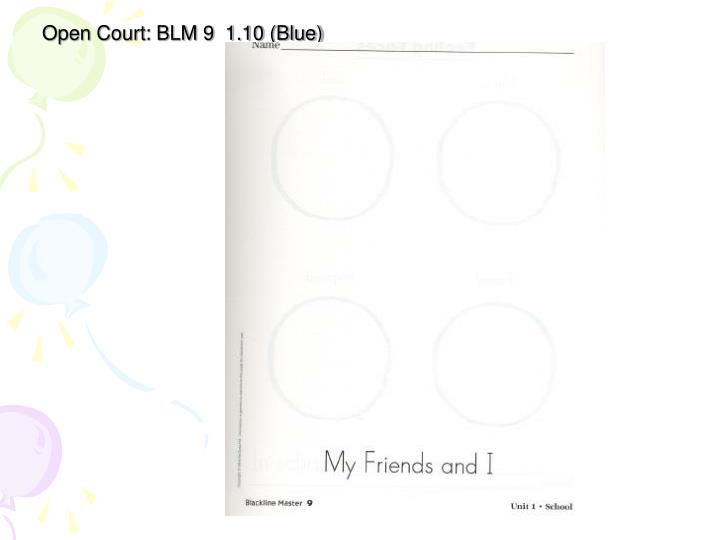 Open Court: BLM 9  1.10 (Blue)