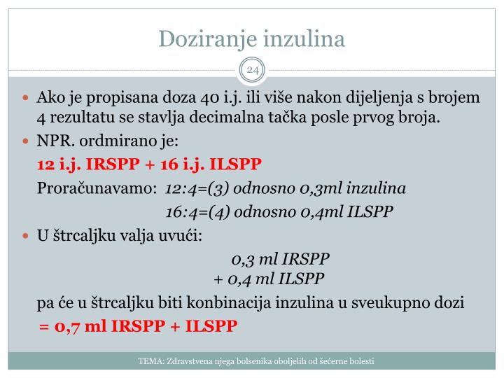 Doziranje inzulina