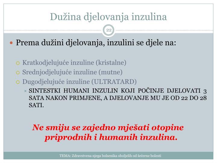 Dužina djelovanja inzulina