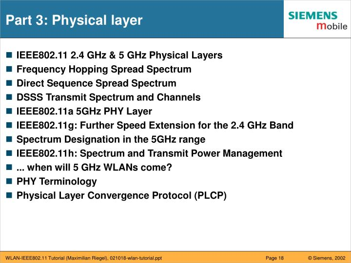 Part 3: Physical layer