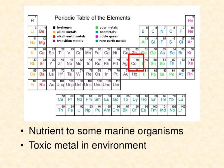 Nutrient to some marine organisms
