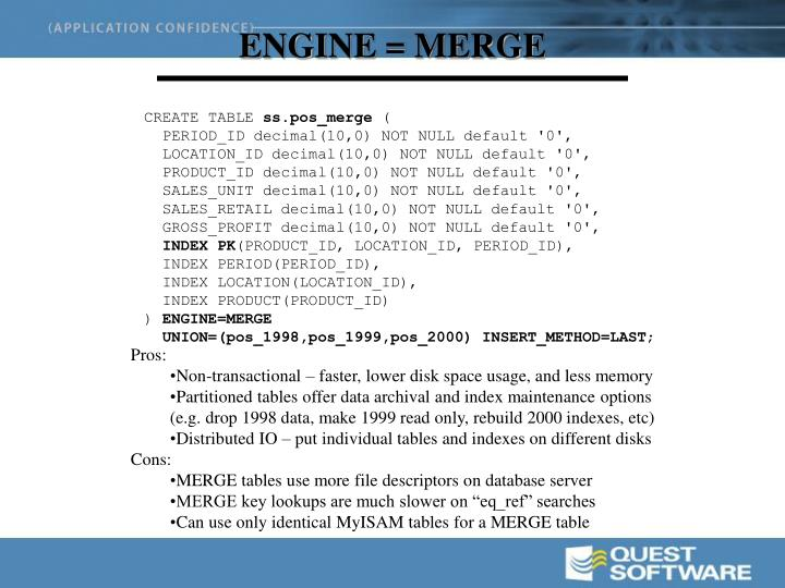 ENGINE = MERGE