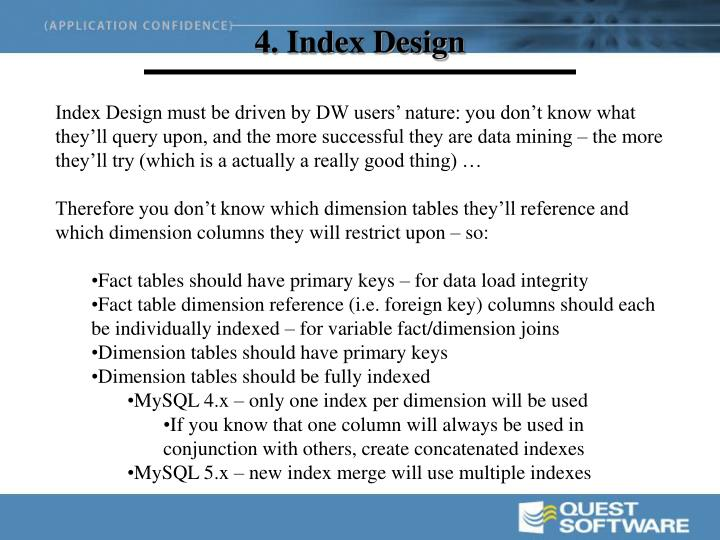 4. Index Design