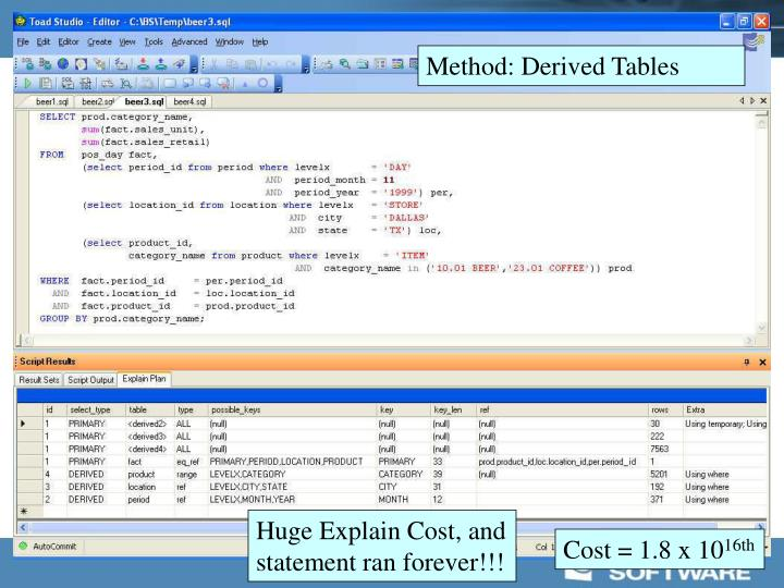 Method: Derived Tables