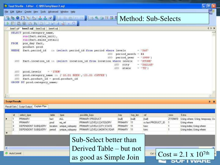 Method: Sub-Selects