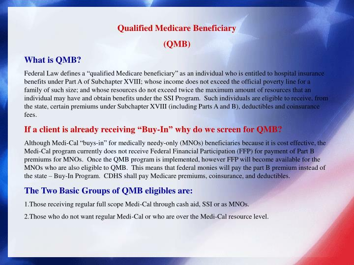 Qualified Medicare Beneficiary