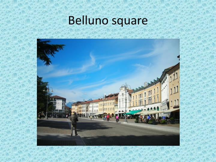 Belluno square