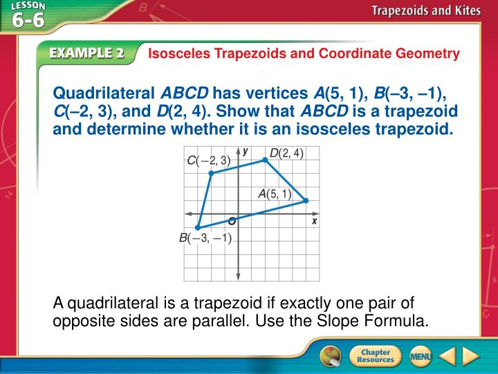 Isosceles Trapezoids and Coordinate Geometry