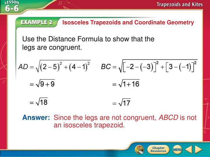 Isosceles Trapezoids and Coordinate Geometry