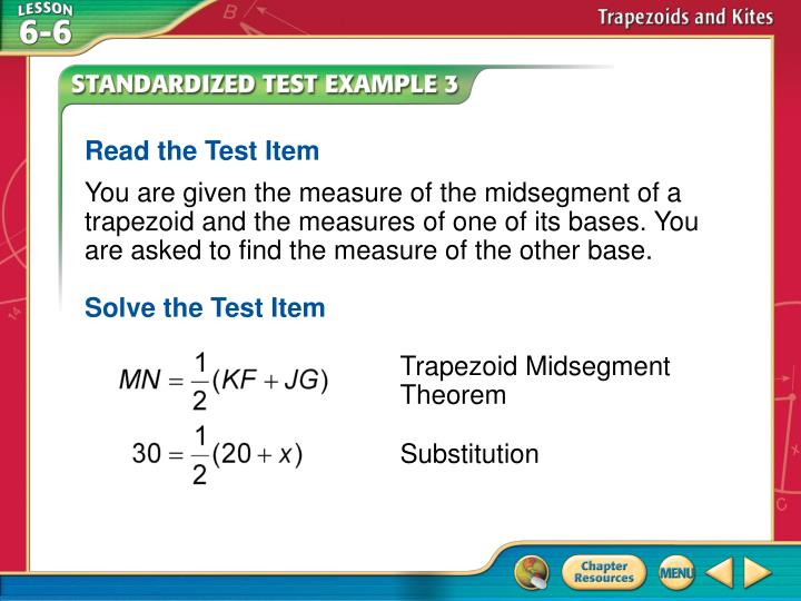 Read the Test Item