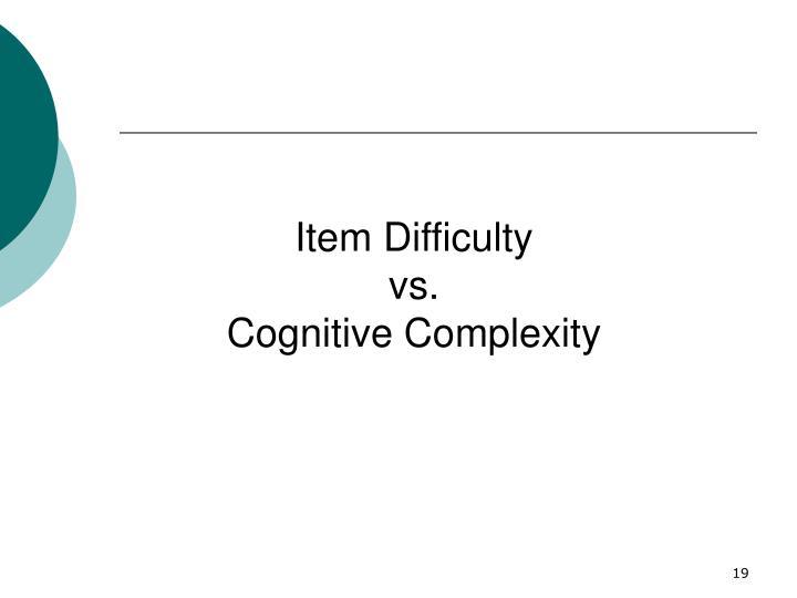 Item Difficulty