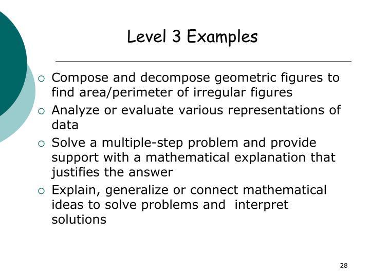 Level 3 Examples