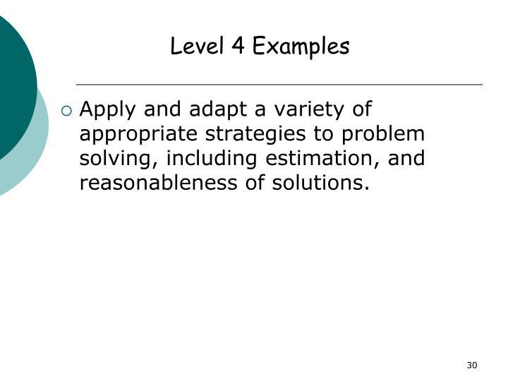 Level 4 Examples