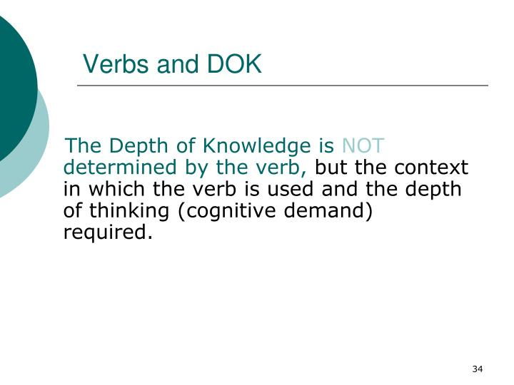 Verbs and DOK