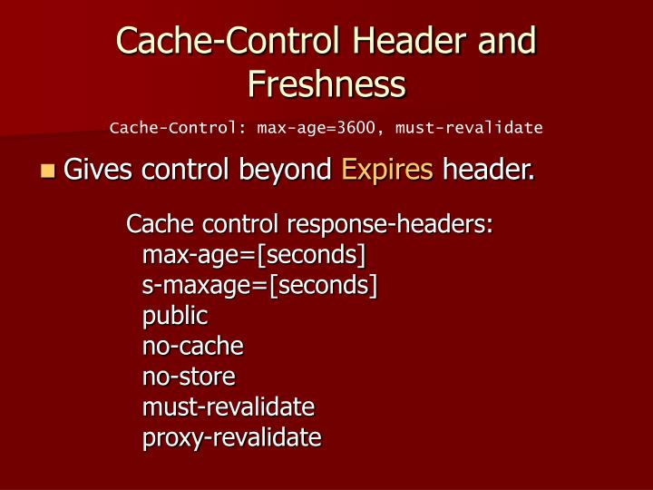 Cache-Control Header and Freshness