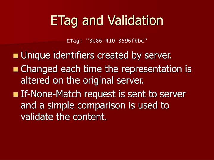 ETag and Validation