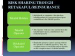 risk sharing trough retakaful reinsurance