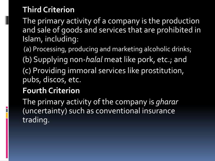 Third Criterion