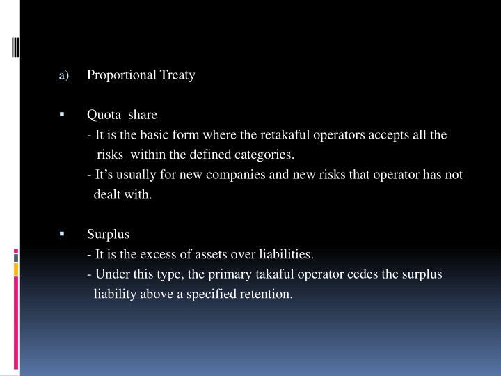 Proportional Treaty