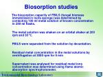 biosorption studies