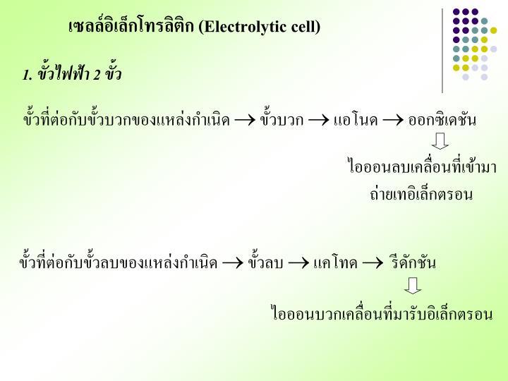 เซลล์อิเล็กโทรลิติก (