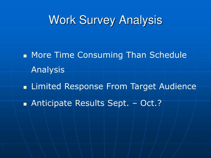 Work Survey Analysis