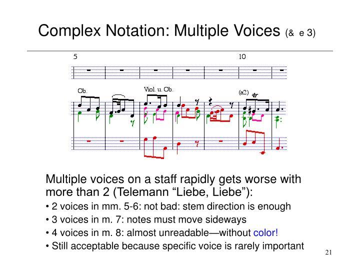Complex Notation: Multiple Voices