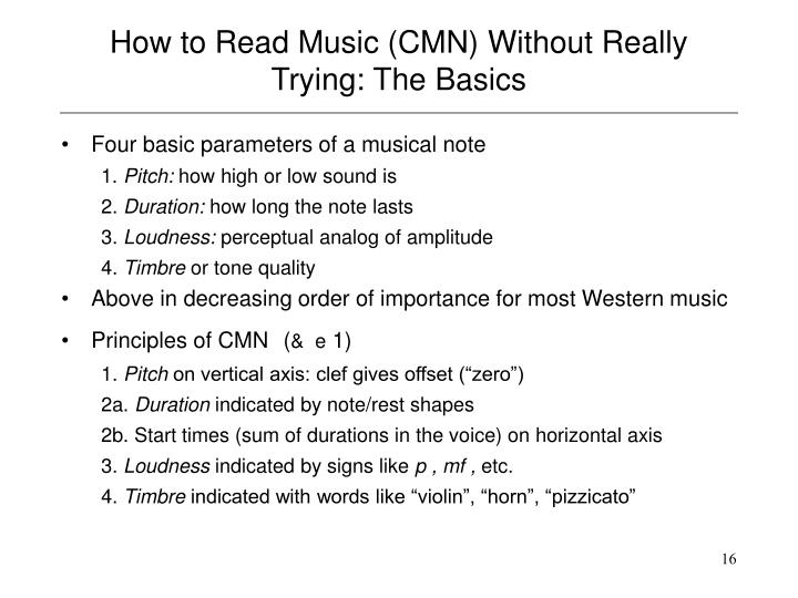 How to Read Music (CMN) Without Really Trying: The Basics