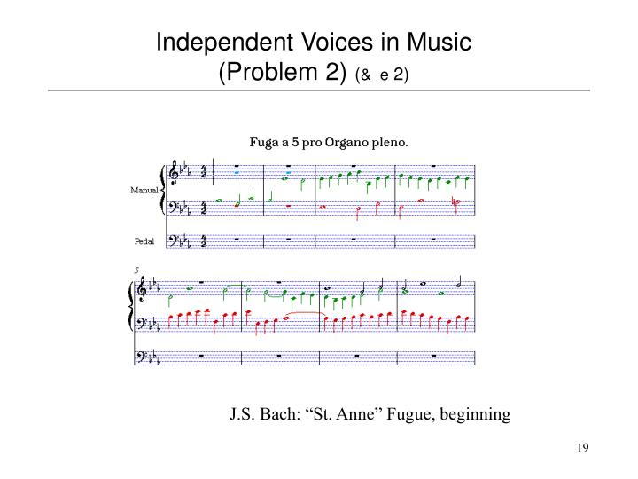 Independent Voices in Music (Problem 2)