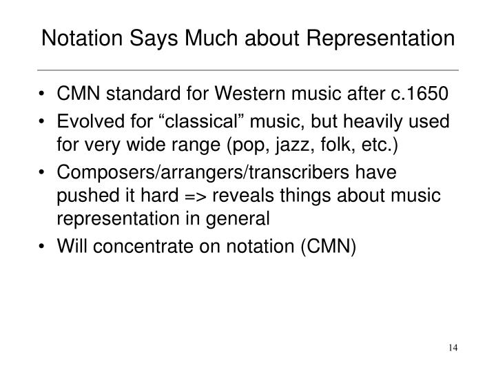 Notation Says Much about Representation