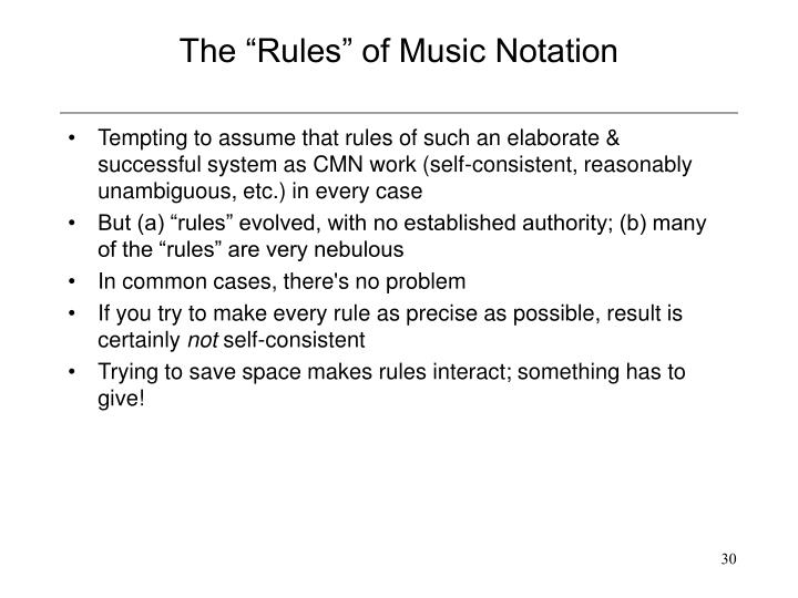 "The ""Rules"" of Music Notation"